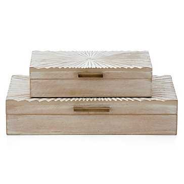 Sunburst Boxes - Set of 2 - Z Gallerie