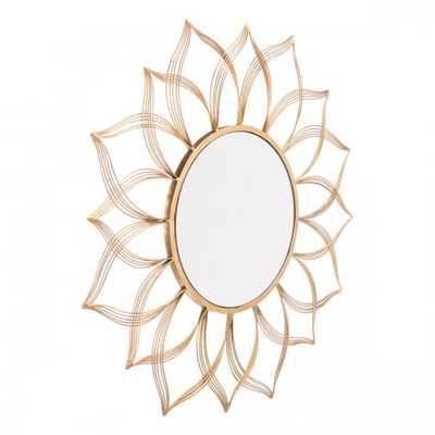 Flower Gold Mirror - Zuri Studios