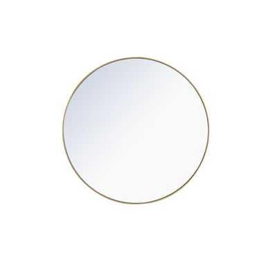 """Needville Modern & Contemporary Accent Mirror- brass 32"""" - Wayfair"""