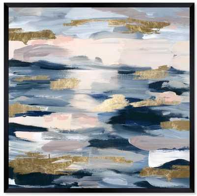 "'Smoke on the Water' Framed Graphic Art; 50"" x 50"" - Wayfair"