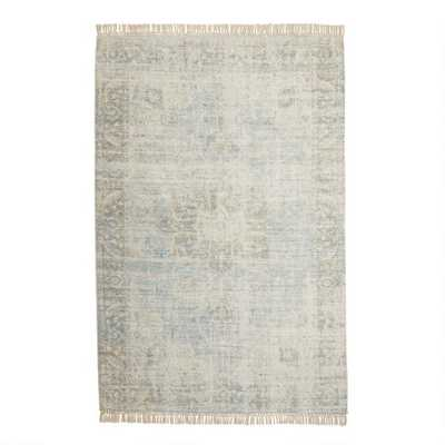 Blue And Green Persian Style Capitola Area Rug - World Market/Cost Plus