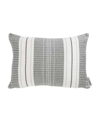 """OXFORD WOVEN PLAID WITHOUT INSERT, GRAY, 14"""" x 20"""" - McGee & Co."""