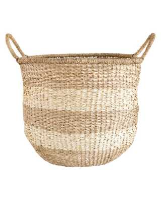 STRIPED ROUND BASKET - SMALL - McGee & Co.