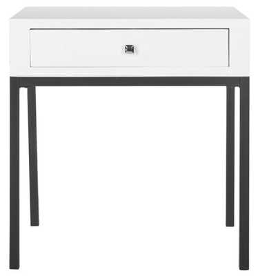 Adena End Table With Storage Drawer - White - Arlo Home - Arlo Home