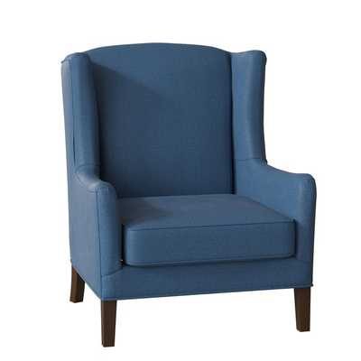 Wolfarth Wingback Chair - Classic Indigo - Birch Lane