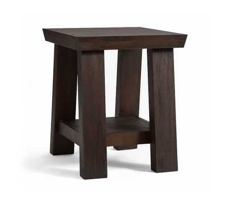 "Madera 22"" Square End Table - Pottery Barn"