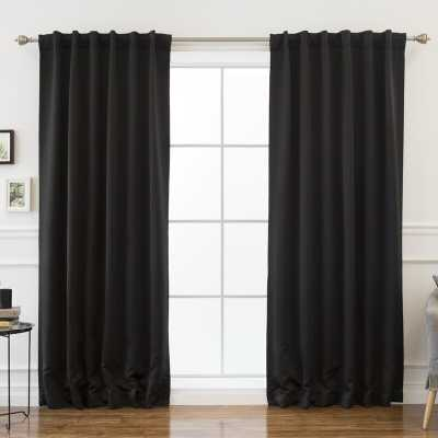 Sweetwater Solid Blackout Thermal Rod Pocket Double Curtains - Wayfair