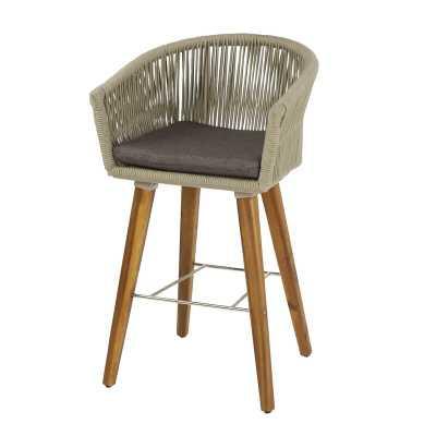 Baum Indoor/Outdoor Patio Bar Stool with Cushion - Wayfair