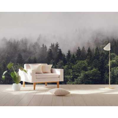 Robinett Forest Misty Jungle Natural Textile Texture Wall Mural - Wayfair