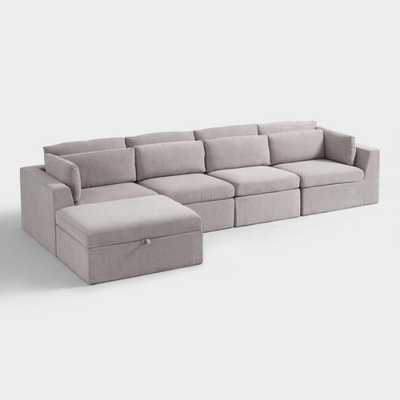 Emmett 5 Piece Long Modular Sectional Sofa - World Market/Cost Plus