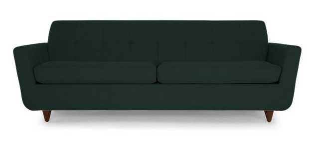 Hughes Sleeper Sofa - Royale Evergree - Wood stain Mocha - Joybird