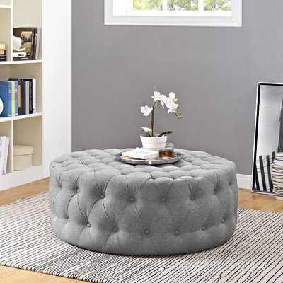 Amour Cocktail Ottoman - Light Gray - Wayfair