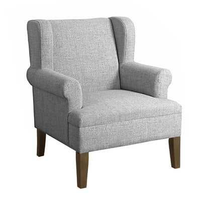 Meade Wingback Chair - Gray Washed / Marbled Gray - Birch Lane
