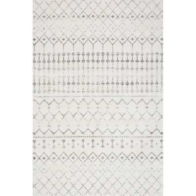 "Lucienne Geometric Gray Rug 6'7"" x 9' - Wayfair"