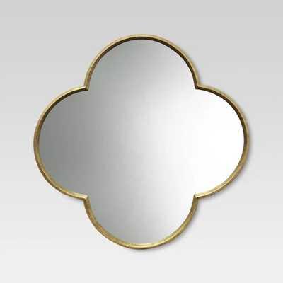 Quatrefoil Decorative Wall Mirror Gold Finish - Target