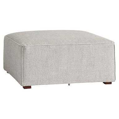 Riley Collection Lounge Set, Ottoman, Boucle Twill Gravel, QS EXEL - Pottery Barn Teen