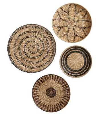 Woven Baskets Wall Art, Natural, Set Of 4 - Pottery Barn