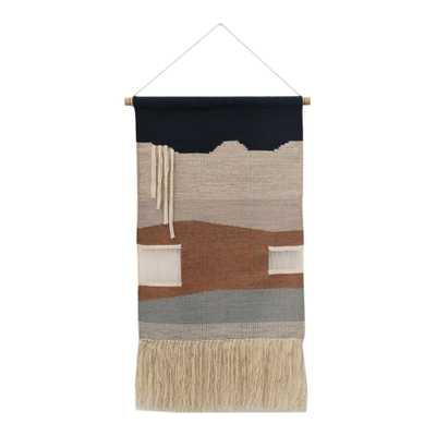 Dusty Rose And Navy Abstract Wall Hanging - World Market/Cost Plus