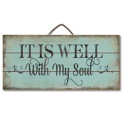 It is Well with My Soul Pallet Wood Sign Wall Décor  It is Well with My Soul Pallet Wood Sign Wall Décor  It is Well with My Soul Pallet Wood Sign Wall Décor  It is Well with My Soul Pallet Wood Sign Wall Décor Mix and match on a gallery wall It is Well w - Wayfair
