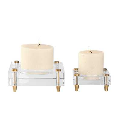 CLAIRE CANDLEHOLDERS, S/2 - Hudsonhill Foundry