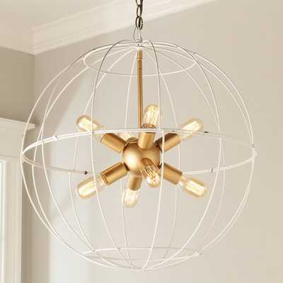 YOUNG HOUSE LOVE LARGE WIRE GLOBE SPUTNIK CHANDELIER - Shades of Light