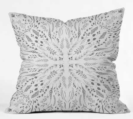 GRAY MAZE By Iveta Abolina Throw Pillow - Wander Print Co.
