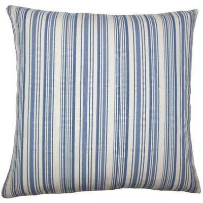 Velika Striped Pillow Blue - 20x20 - Linen & Seam