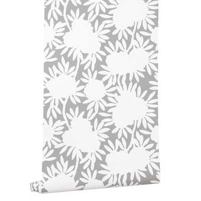 Silhouette Grey Wallpaper -Double Roll - Caitlin Wilson