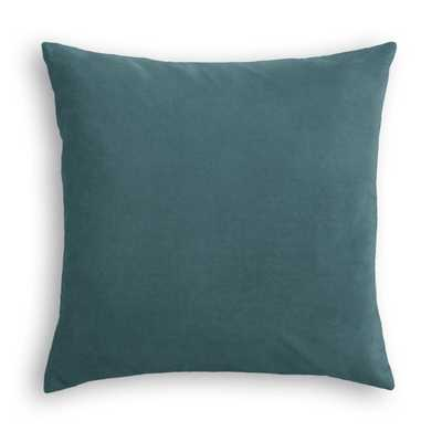 "Classic Velvet Pillow, Dark Teal, 22"" x 22"" - Havenly Essentials"