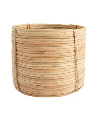 CANE RATTAN ROUND BASKET - LARGE - McGee & Co.