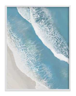 foam from above - white wood frame, 40''x30'' - Minted