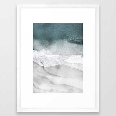 "Coast 3 Framed Art Print - vector white - 20"" x 26"" - Society6"