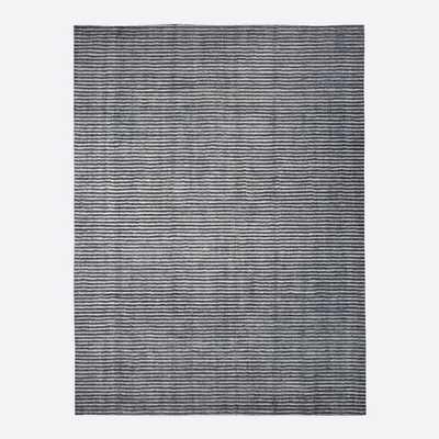 Terra Stripes Rug, Slate, 8'x10' - West Elm