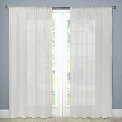 "Sheer Linen Curtain Panels 84""x54"" - Threshold™ - Target"