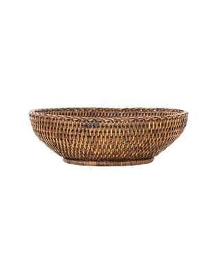 Dark Rattan Oval Bowl - McGee & Co.