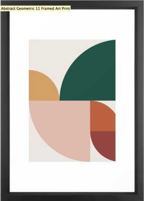 Abstract Geometric 11 Framed Art Print by The Old Art Studio - Society6