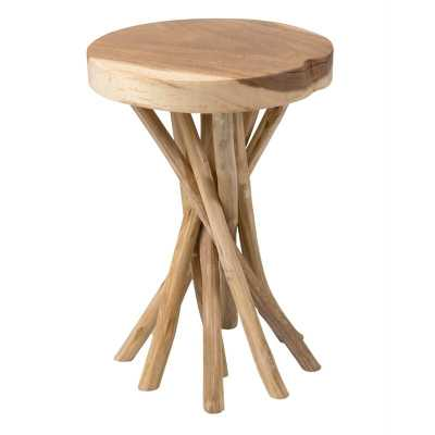 Harte Solid Wood Pedestal End Table - Birch Lane