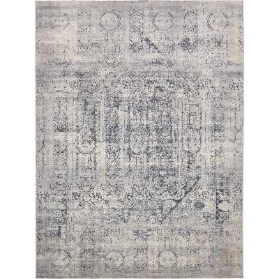 Abbeville Oriental Navy Blue Area Rug - 9x12 - Wayfair