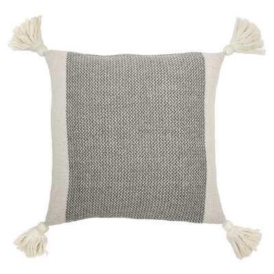 cotton blend pillow with tassels - Moss & Wilder
