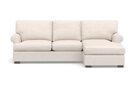 TOWNSEND ROLL ARM UPHOLSTERED SOFA WITH CHAISE SECTIONAL left arm - Pottery Barn