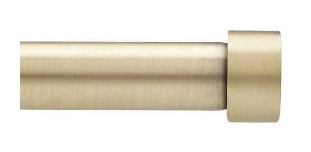 Umbra® Cappa 120 to 180-Inch Adjustable Window Curtain Rod in New Brass - Bed Bath & Beyond