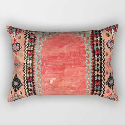 Sivas Antique Cappadocian Turkish Niche Kilim Print Rectangular Pillow - Society6
