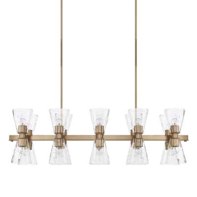 CLASSIC ARCHITECTURAL LINEAR CHANDELIER - Shades of Light