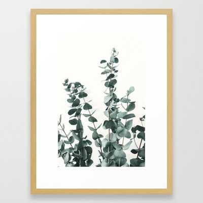 "Eucalyptus Leaves Framed Art Print - Conservation Natural 20"" X 26"" - Society6"