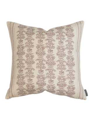 "DEMI FLORAL STRIPE PILLOW COVER, 24"" - McGee & Co."