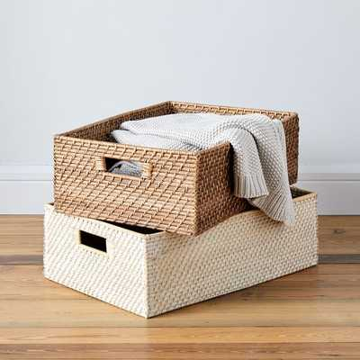 Modern Weave, Underbed Basket, Natural, Without Handles - West Elm