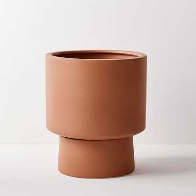 Bishop Planter, Wide, Terracotta Matte - West Elm