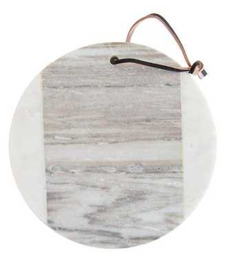 ROUND MARBLE CHEESE BOARD - McGee & Co.