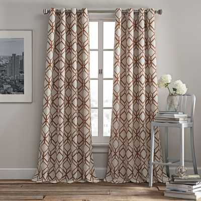 Rutherford 84-Inch Grommet Top Window Curtain Panel in Spice - Bed Bath & Beyond
