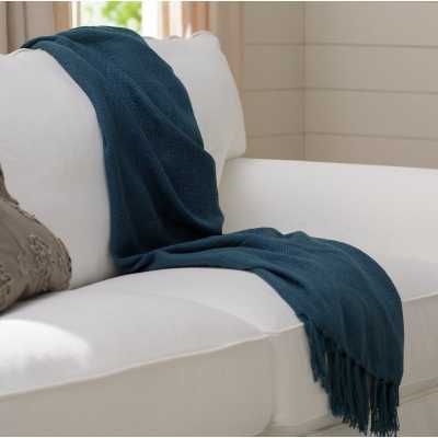 Bovina Throw Blanket - Navy - Wayfair